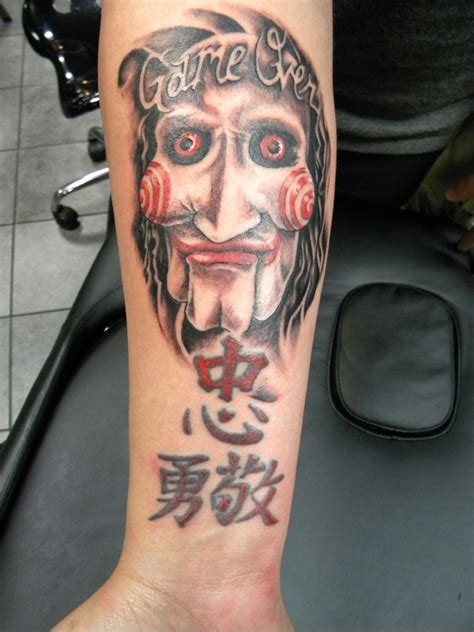 gallery with different saw tattoos