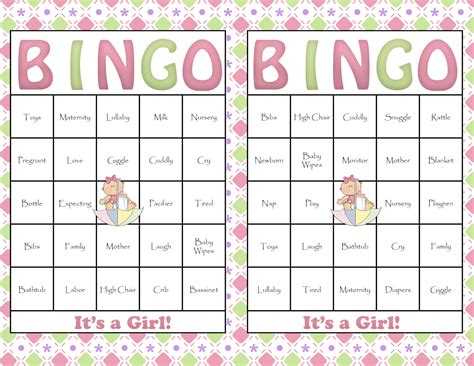 bingo baby shower card template free 7 best images of free printable baby bingo card