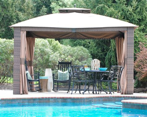gazebo outdoor outdoor woven wicker gazebo the chronicles of home