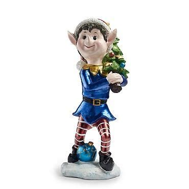 set of three pixie elves frontgate outdoor christmas decorations tree trimmer pixie with tree 36 quot painted resin non lighted 299 00 at frontgate