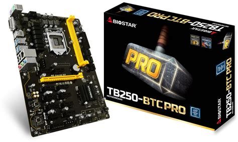 Biostar Tb250 Btc Pro G4560 biostar announces the tb250 btc pro the 12 gpu ready