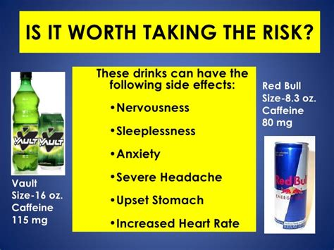 the energy drink side effects the jolting about energy drinks