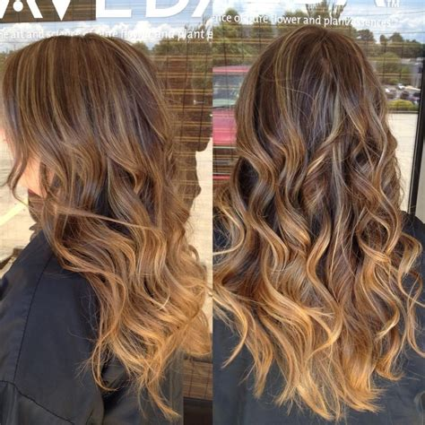 balayage ombre highlights caramel highlights fading into ombr 233 want hair pinterest