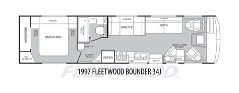 fleetwood bounder floor plans 1997 fleetwood bounder 34j stock c00003 the rv man