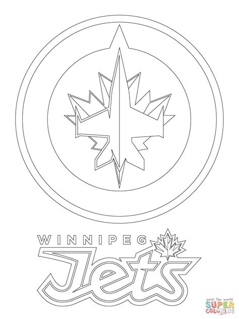 Coloring Pages Winnipeg Jets | winnipeg jets logo coloring page free printable coloring