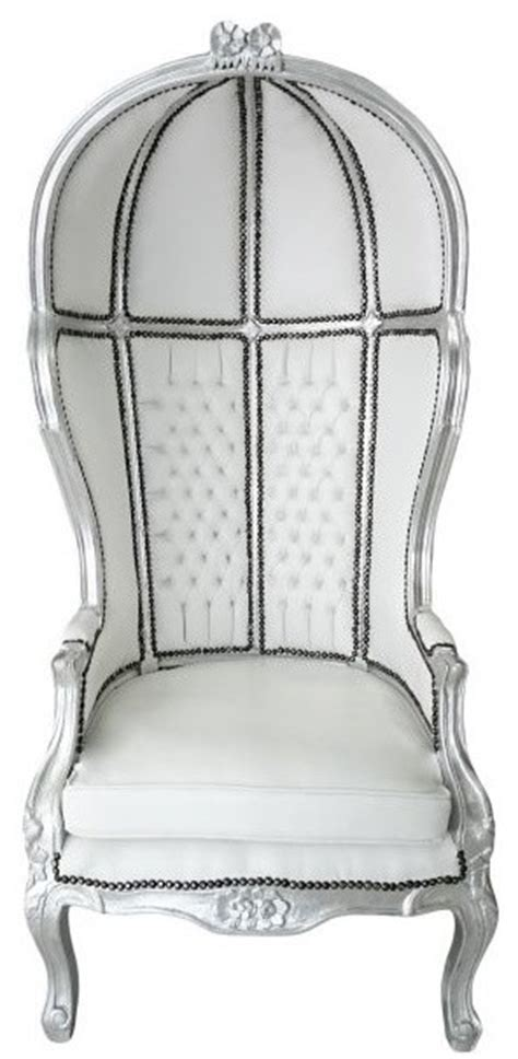 french canopy chair yves french grand porter s canopy chair in silver white