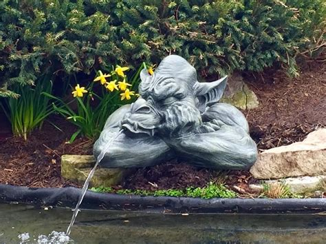 goliath  gargoyle spitter  ponds resin water
