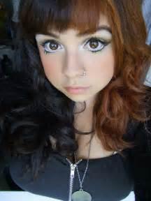 half half brown hair half brown ombre dyed hair ideas makeup pinterest