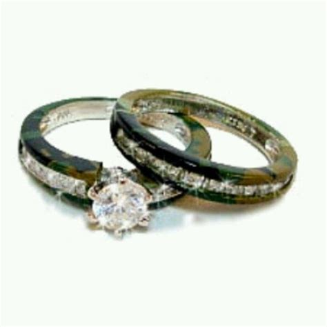 pink camo wedding rings ring sets with real diamonds