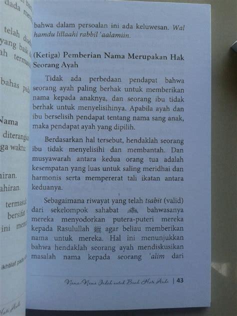 Promo Panduan Nama Nama Indah Untuk Anak Pustaka Ibnu Umar buku nama nama indah untuk buah hati anda