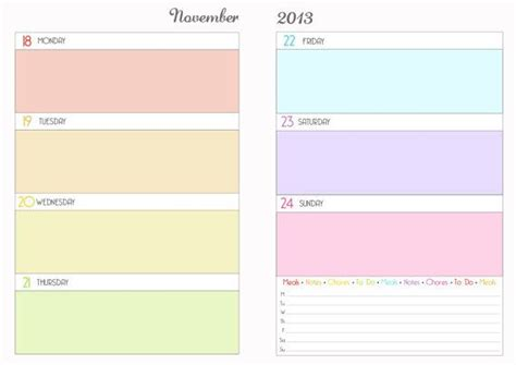 printable day planner pages 2014 2014 printable week on two pages planner for arc filofax