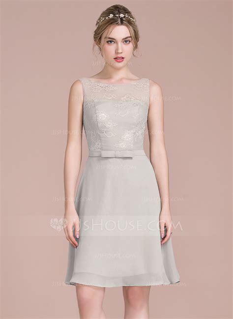 a linie u ausschnitt knielang chiffon brautjungfernkleid mit pailletten p637 a linie princess linie u ausschnitt knielang chiffon lace