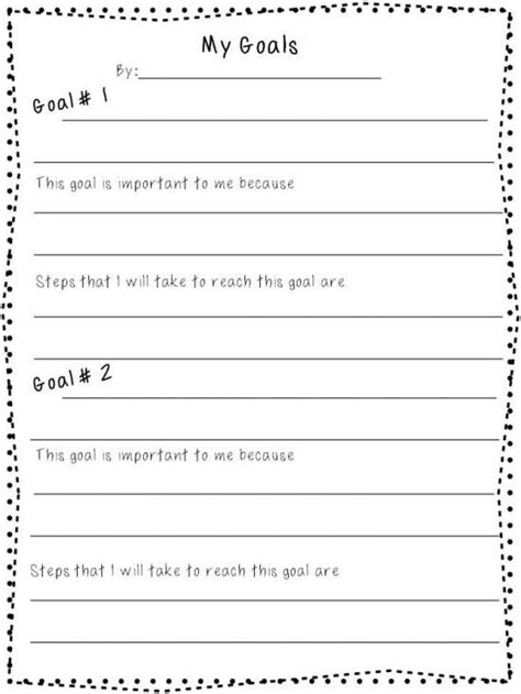 goal sheet template for students best 25 goal setting activities ideas on goal