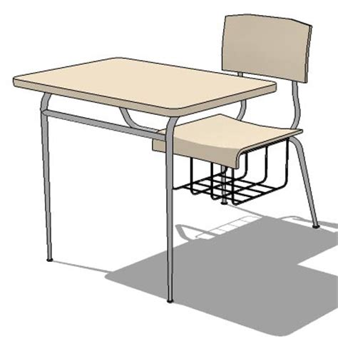 school table 01 3D Model   FormFonts 3D Models & Textures