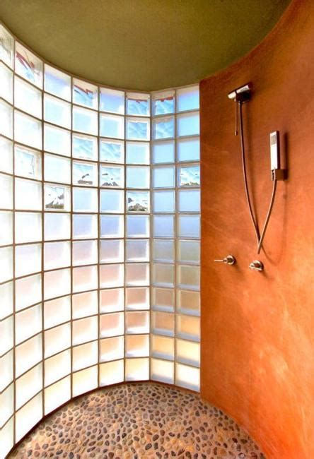 custom glass block shower designs add beautiful curves