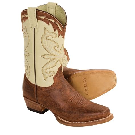Handcrafted Cowboy Boots - stetson horseman handmade cowboy boots for 2439p