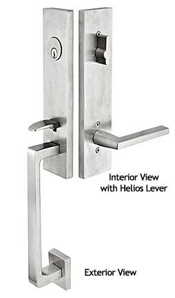 Emtek Products Inc Davos Ss Emtek Contemporary Stainless Steel Davos Style Door Entry Set Emtek Hardware Templates