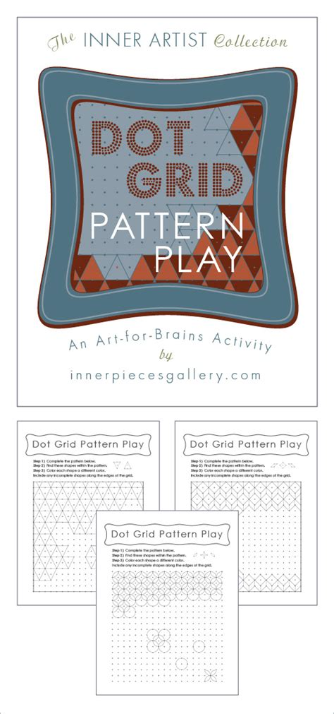 dot pattern recognition dot grid pattern play an art for brains activity for kids
