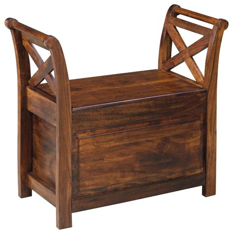 Wayside Furniture by Signature Design By Abbonto Mango Wood Bench With Storage Wayside Furniture Bench