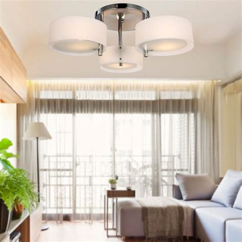 Living Room Light Fixture Modern Fit Hallway Bedroom Living Room Silver Ceiling Light L Wl527 Ebay