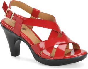 Black Comfort Shoes Eurosoft Shoes Vanda Fire Red