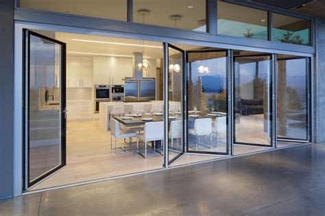 sliding glass walls burnaby residence gallery nanawall operable glass wall systems