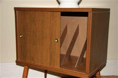 vintage lu inc record cabinet vinyl album storage
