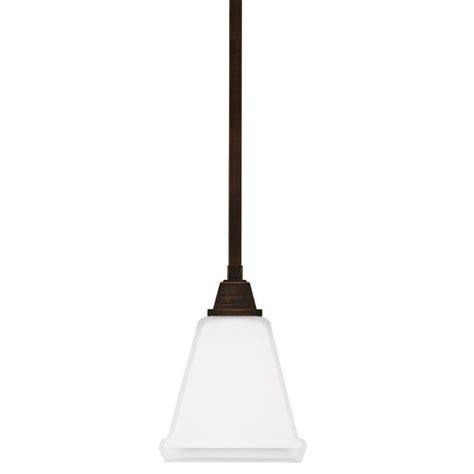 Sea Gull Lighting Stirling 1 Light Burnt Sienna Pendant Home Depot Lighting Pendants