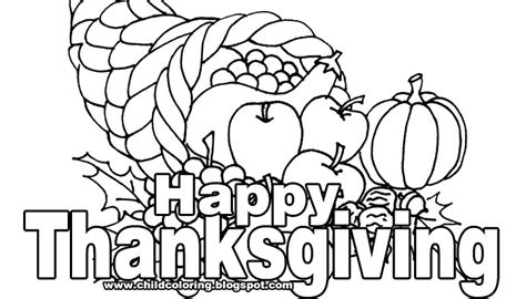 Happy Thanksgiving Banner Clip Art Black And White Thanksgiving Day Coloring Pages