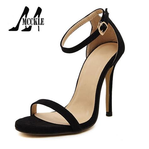 2016 new summer sandals shoes high heeled ankle