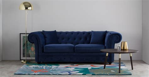 blue chesterfield sofa branagh 2 seater chesterfield sofa electric blue velvet