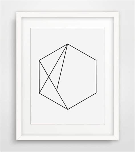 minimalist wall decor geometric print black and white minimalist wall art
