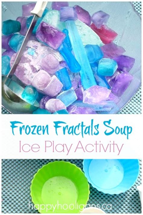 Cool Coffee Table frozen fractals soup activity ice play for kids