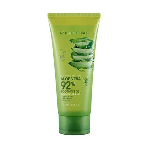 Nature Republic Aloe Vera Soothing Gel For Acne soothing moisture aloe vera 92 soothing gel