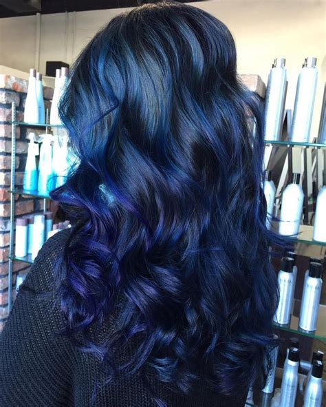 pictures of sapphire black hair with red highlights 25 best ideas about dark blue hair on pinterest dark