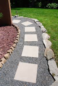 Red Patio Set Walkway Pathway Made Of Stone Plant Amp Flower Stock