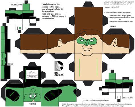 Green Lantern Papercraft - dcnu1 green lantern cubee by theflyingdachshund on deviantart