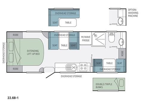 jayco caravan floor plans jayco starcraft 22 68 1 rv towing caravans specification
