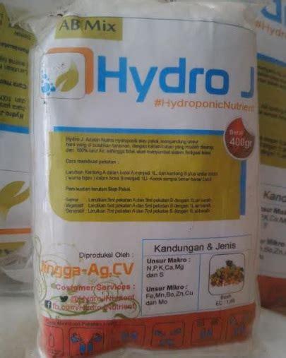 Nutrisi Hydroponik Ab Mix Hydro J Cabe jual nutrisi hidroponik ab mix buah hydro j 1 l 400 gram