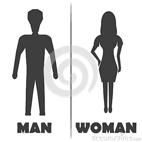 man and woman bathroom symbol male and female restroom symbol icon vector illustration