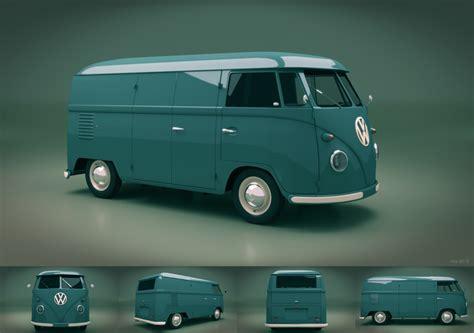 Model 1950s Vw Van Blender 2 63 Cycles Blendernation