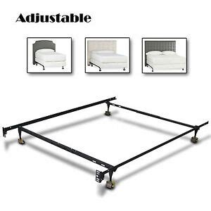 metal bed frame adjustable size w roller heavy duty new modern ebay