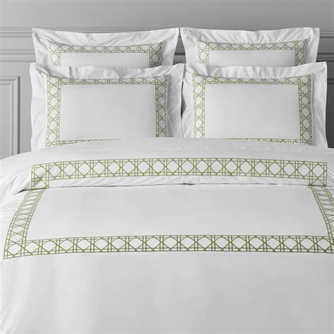william sonoma bedding cane embroidery bedding williams sonoma