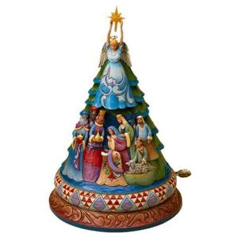 jim shore nativity christmas tree musical lit 4024789 ebay