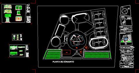 sports center  dwg design plan  autocad designs cad