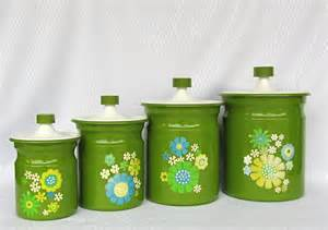 green kitchen canisters