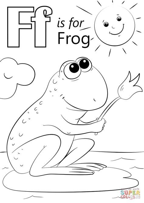 F Frog Coloring Page letter f is for frog coloring page free printable