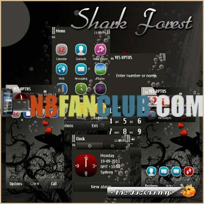 download revolve theme for symbian 3 anna belle free shark forest theme symbian 3 anna belle nokia n8