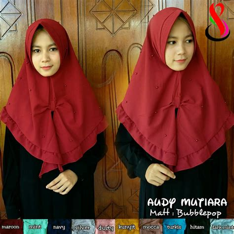 Klip Jilbab Mutiara 1 kerudung audy mutiara sentral grosir jilbab kerudung i supplier jilbab i retail grosir