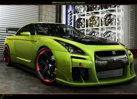custom nissan skyline r35 green nissan skyline gtr r35 car interior design
